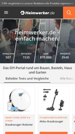 Vorschau der mobilen Webseite www.heimwerker.de, Heimwerker.de, Marketing Factory Digital GmbH