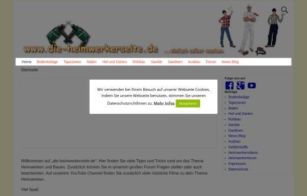 Vorschau von www.die-heimwerkerseite.de, Die Heimwerkerseite