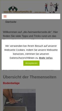 Vorschau der mobilen Webseite www.die-heimwerkerseite.de, Die Heimwerkerseite