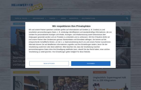 Vorschau von www.heimwerkertricks.net, Heimwerkertricks.net