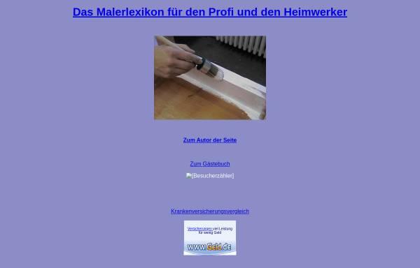 Vorschau von www.malerlexikon.de, Malerlexikon