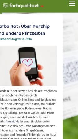 Vorschau der mobilen Webseite www.farbqualitaet.de, Paint Quality Institute