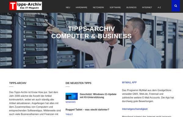 Vorschau von www.tipps-archiv.de, Tipps-Archiv