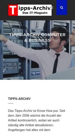 Vorschau der mobilen Webseite www.tipps-archiv.de, Tipps-Archiv