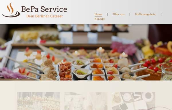 Vorschau von www.bepa-service.de, Betriebsversorgungs- und Partyservice GmbH