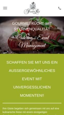 Vorschau der mobilen Webseite www.fisslerpost-catering.de, Fissler Post Services - Catering & Event-Management GmbH