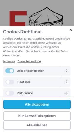 Vorschau der mobilen Webseite www.partyservice-forster.de, Forster GmbH