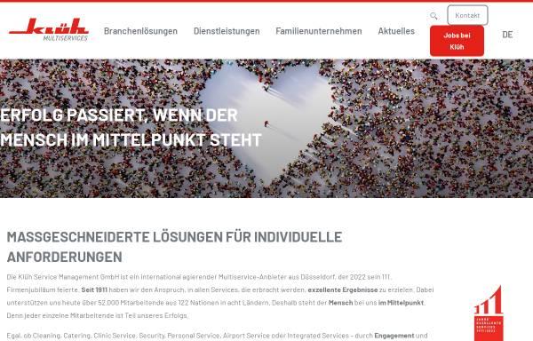 Vorschau von www.klueh.de, Klüh Service Management GmbH
