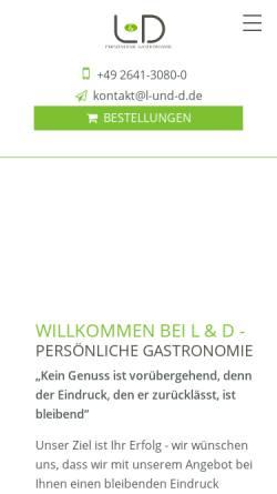 Vorschau der mobilen Webseite www.lohmeierdeimel.de, L & D GmbH