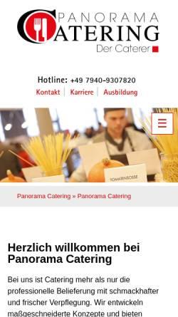 Vorschau der mobilen Webseite www.panorama-catering.de, Panorama Catering - Panorama Hotel- und Service GmbH