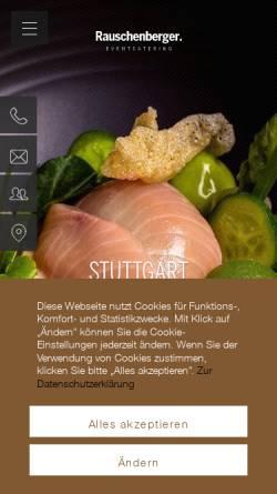 Vorschau der mobilen Webseite www.rauschenberger-partyservice.de, Rauschenberger Gastronomie Gruppe