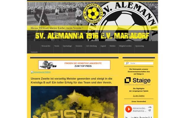 Vorschau von www.alemannia-mariadorf.de, SV Alemannia Mariadorf 1916 e.V.