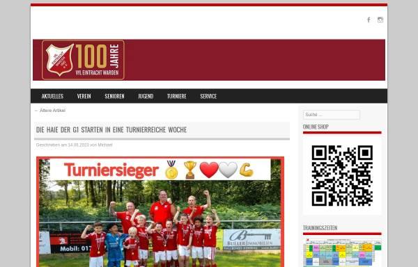 Vorschau von www.eintracht-warden.de, VfL Eintracht Warden 1922 e.V.