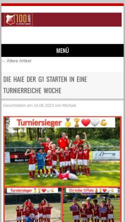 Vorschau der mobilen Webseite www.eintracht-warden.de, VfL Eintracht Warden 1922 e.V.