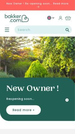 Vorschau der mobilen Webseite www.bakker.com, Bakker-Holland - Pflanzenversand Ammersbeck GmbH