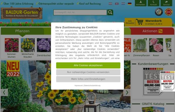 Baldur-Garten GmbH: Pflanzen, Haus und Garten baldur-garten.de on