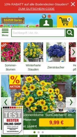 Vorschau der mobilen Webseite www.baldur-garten.de, Baldur-Garten GmbH