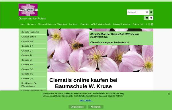 Vorschau von www.clematis.de, Baumschule W. Kruse