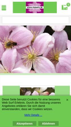 Vorschau der mobilen Webseite www.clematis.de, Baumschule W. Kruse