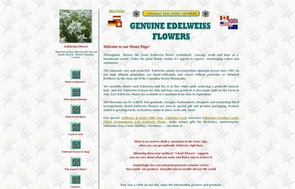 Vorschau von www.edelweissgrowers.com, Canadian Edelweiss Growers