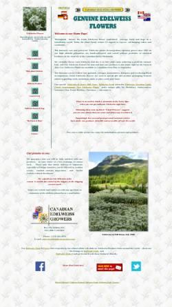 Vorschau der mobilen Webseite www.edelweissgrowers.com, Canadian Edelweiss Growers