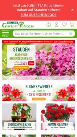 Vorschau der mobilen Webseite www.poetschke.de, Gärtner Pötschke GmbH
