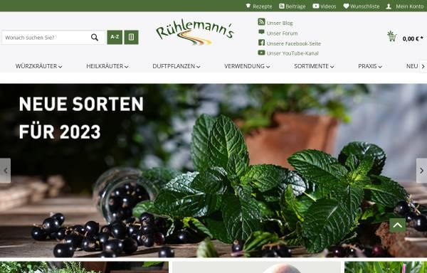 Vorschau von www.kraeuter-und-duftpflanzen.de, Gärtnerei Rühlemanns Kräuter & Duftpflanzen