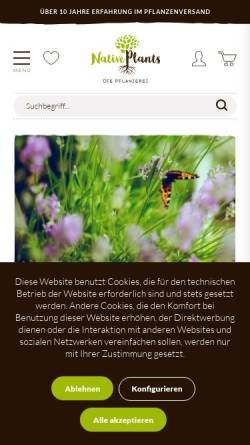 Vorschau der mobilen Webseite www.native-plants.de, Native Plants - Christoph Rogmans