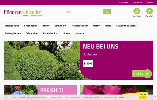 Vorschau von www.pflanzenschleuder.de, Pflanzenschleuder
