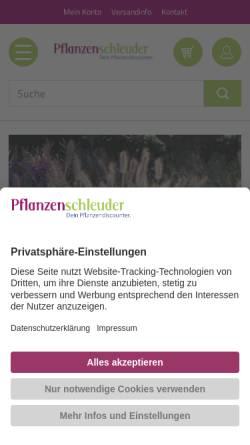 Vorschau der mobilen Webseite www.pflanzenschleuder.de, Pflanzenschleuder