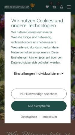 Vorschau der mobilen Webseite www.pflanzenverkauf.ch, Pflanzenverkauf.ch