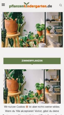 Vorschau der mobilen Webseite www.pflanzenkindergarten.de, Pflanzenversand Hans-Günter Röpke