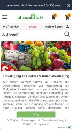 Vorschau der mobilen Webseite www.pflanzmich.de, Pflanzmich GmbH