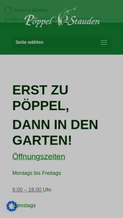 Vorschau der mobilen Webseite poeppel-stauden.de, Poeppel Stauden, Eckehard Pöppel