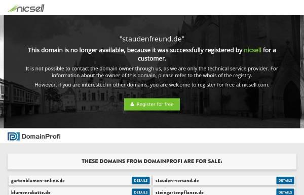 Vorschau von www.staudenfreund.de, Der Staudenfreund