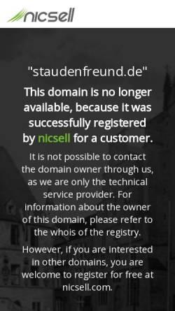 Vorschau der mobilen Webseite www.staudenfreund.de, Der Staudenfreund