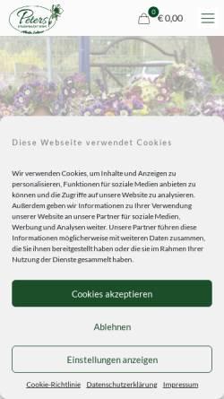 Vorschau der mobilen Webseite www.alpine-peters.de, Staudengärtnerei Alpine Raritäten Jürgen Peters