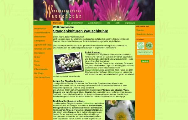 Vorschau von www.staudenkulturen-wauschkuhn.de, Staudenkulturen Wauschkuhn