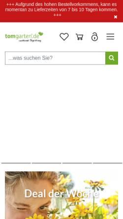 Vorschau der mobilen Webseite www.tom-garten.de, TOM-Garten - ESH-Rhenania GmbH
