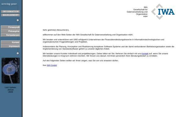 Vorschau von www.iwagmbh.de, IWA Gesellschaft für Datenverabreitung und Organisation mbH