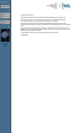 Vorschau der mobilen Webseite www.iwagmbh.de, IWA Gesellschaft für Datenverabreitung und Organisation mbH
