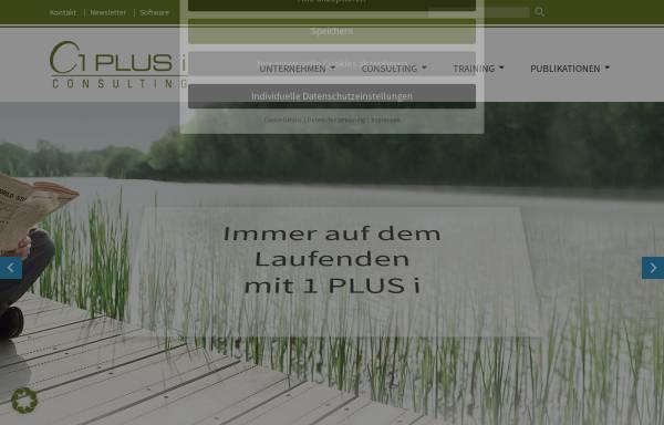 Vorschau von www.1plusi.de, 1 PLUS i GmbH