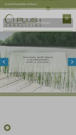 Vorschau der mobilen Webseite www.1plusi.de, 1 PLUS i GmbH