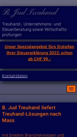 Vorschau der mobilen Webseite www.bjt.ch, B. Jud. Treuhand