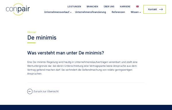 Vorschau von www.conpair.de, Conpair AG