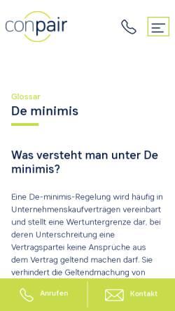 Vorschau der mobilen Webseite www.conpair.de, Conpair AG