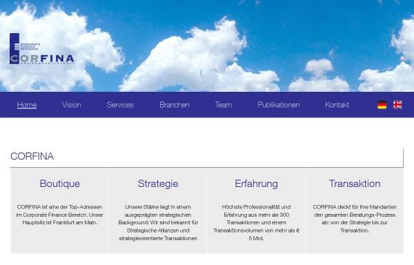 Vorschau von corfina.de, Corfina AG