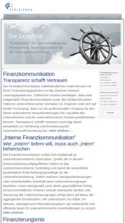 Vorschau der mobilen Webseite www.effizienza.de, EFFIZIENZA Management GmbH & Co. KG