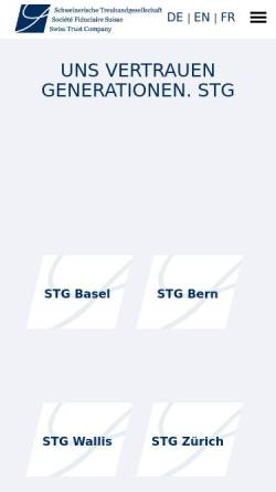 Vorschau der mobilen Webseite www.stg.ch, LGT Schweizerische Treuhandgesellschaft