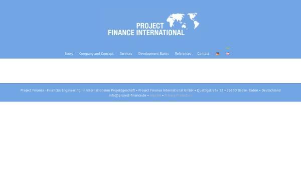 Vorschau von project-finance.de, PFI Project Finance International - Unternehmensberatung Dr. Joachim Richter